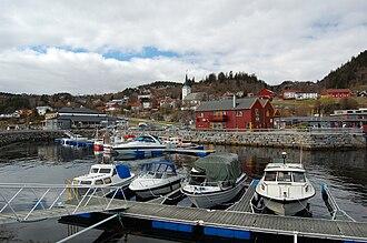 Vanvikan - View of the village