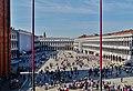 Venezia Basilica di San Marco Terrasse Blick auf die Piazza San Marco 1.jpg