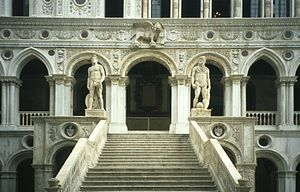 English: Entrance of Doge's Palace in Venice