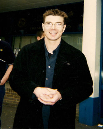 Barry Venison - Venison outside Loftus Road following a match between Queens Park Rangers and Blackburn Rovers, 7 April 2001.