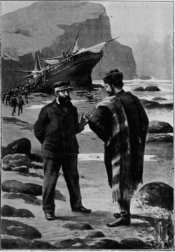 Verne - Les Naufragés du Jonathan, Hetzel, 1909, Ill. page 74