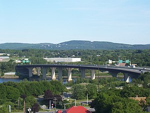 Interstate 395 (Maine) - Veterans Remembrance Bridge carrying I-395 between Bangor and Brewer