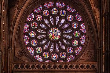 Vidreira da Catedral de León. España-42