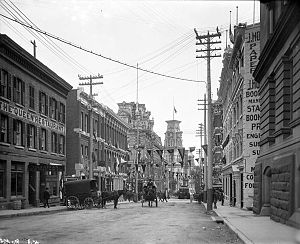 Elgin Street (Ottawa) - View along Elgin Street looking north in September 1901