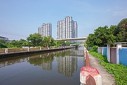 Khlong Phasi Charoen in the phase near Bang Wa BTS station