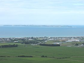 Looking towards Parton Rd and Motiti Island from the Papamoa Hills