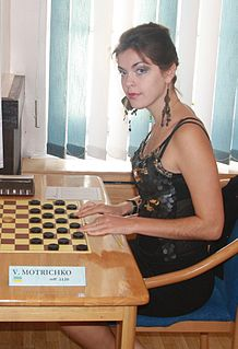 Viktoriya Motrichko Ukrainian draughts player