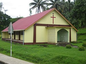 Tailevu Province - A village church in the Wainibuka District, Tailevu, Fiji.