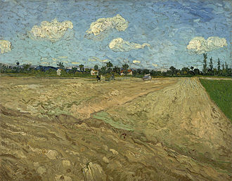 Wheat Fields (Van Gogh series) - Ploughed fields ('The furrows) – depicts the fields before the wheat grows. Van Gogh appreciated manual laborers and their connection to nature.