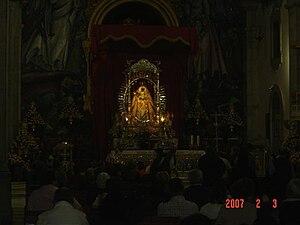 Virgen de Candelaria, en su trono procesional.JPG