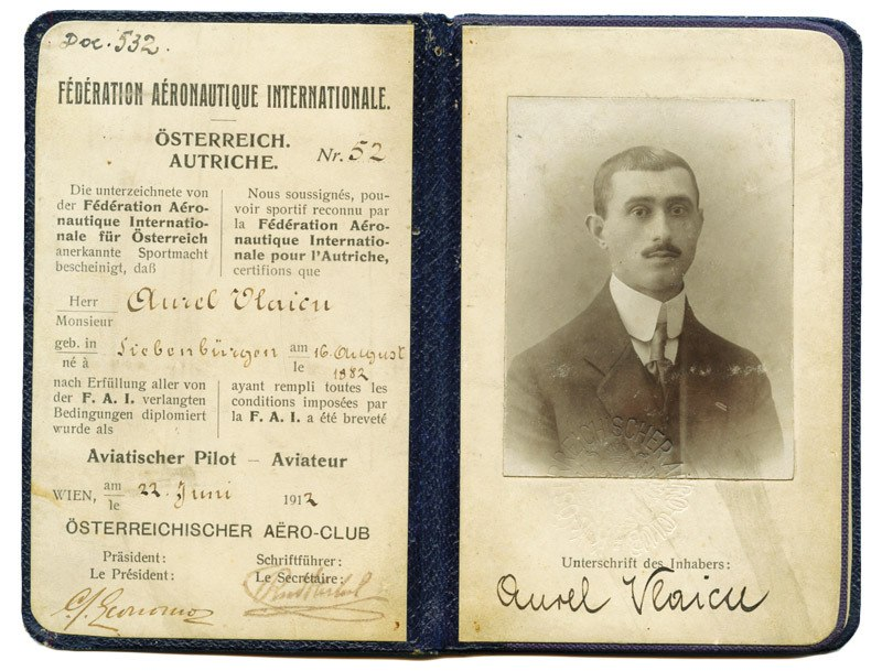 Vlaicu Pilot License
