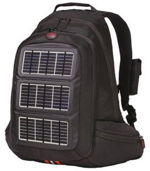 Solar charger - Solar charger integrated into a backpack