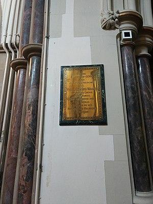 V. E. Walker - Vyell Edward Walker plaque, Christ Church, Southgate.