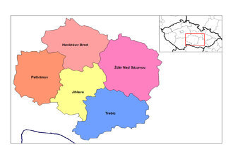Vysočina Region - Districts of Vysočina Region
