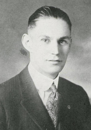Wallace Parker - Parker pictured in Chippewa 1922, Central Michigan yearbook