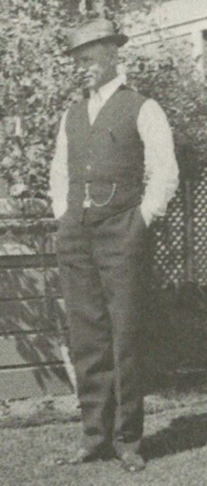 W. H. Weeks - Weeks in front of his home in Watsonville, CA