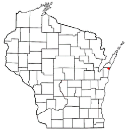 Location of Ahnapee, Wisconsin