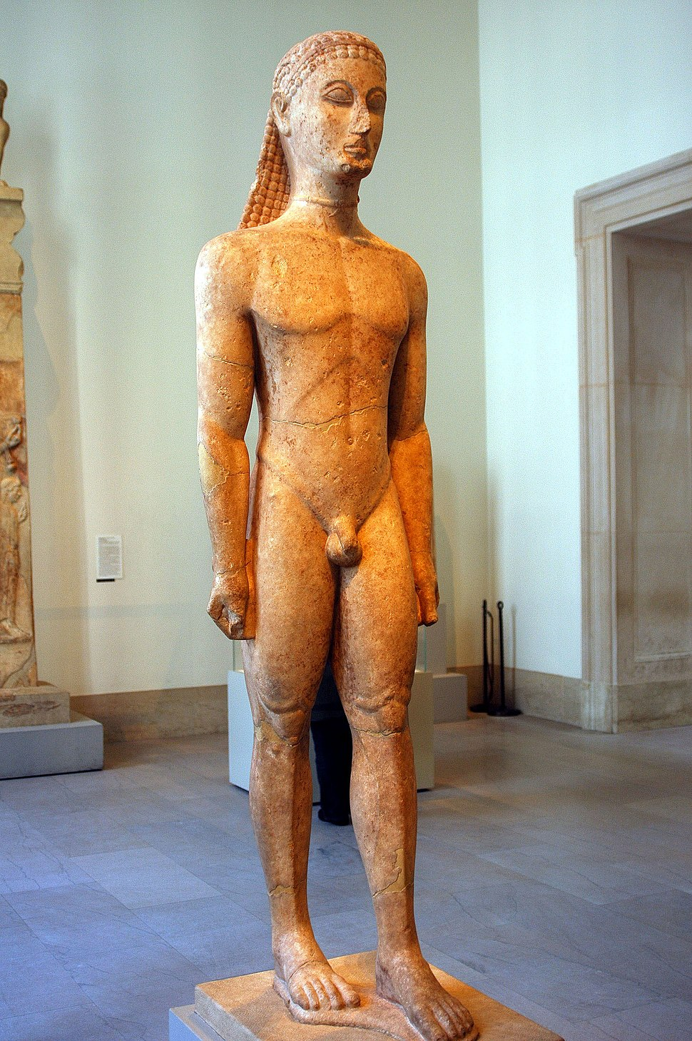 WLA metmuseum Marble statue of a kouros youth 2