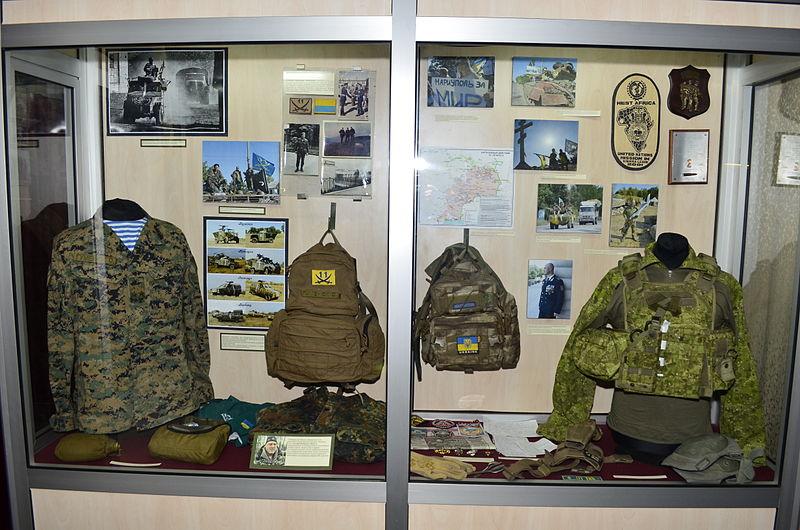 Експозиція у Національному військово-історичному музеї України, де проводилась церемонія нагородження конкурсу «Військова справа у Вікіпедії» Автор фото: Ilya (ліцензія CC-BY-SA-4.0)