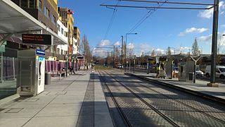 Ligne 8 du tramway d 39 le de france wikimonde - Station service porte de pantin ...