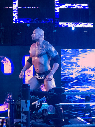 WrestleMania - Image: WWE Wrestlemania 28 The Rock vs John Cena 2