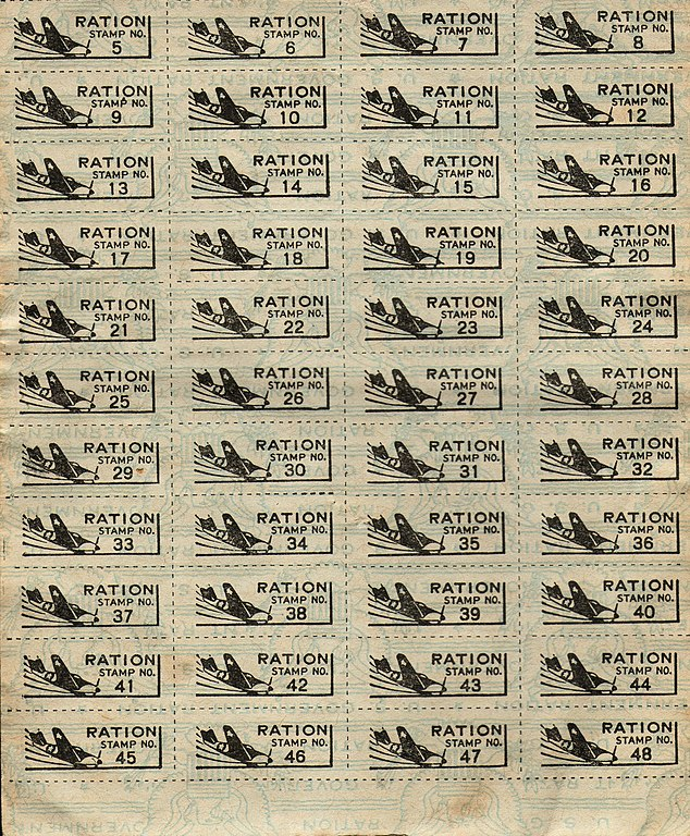 graphic relating to Ration Book Ww2 Printable identified as Document:WWII United states Ration Stamps 1.jpg - Wikipedia