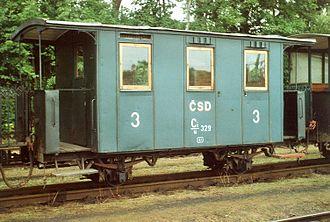 Jindřichohradecké místní dráhy - Two-axled carriage in the museum train