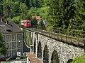 Waidhofen an der Ybbs - Viadukt und Eisenbahnbrücke über die Weyrer Straße Blickpunkt vom Buchenberg.jpg