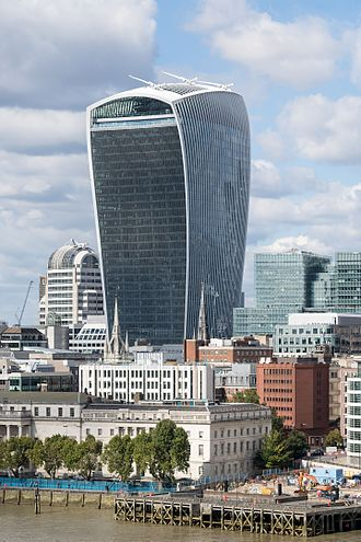 20 Fenchurch Street - 20 Fenchurch Street in 2015, viewed from the roof balcony of City Hall