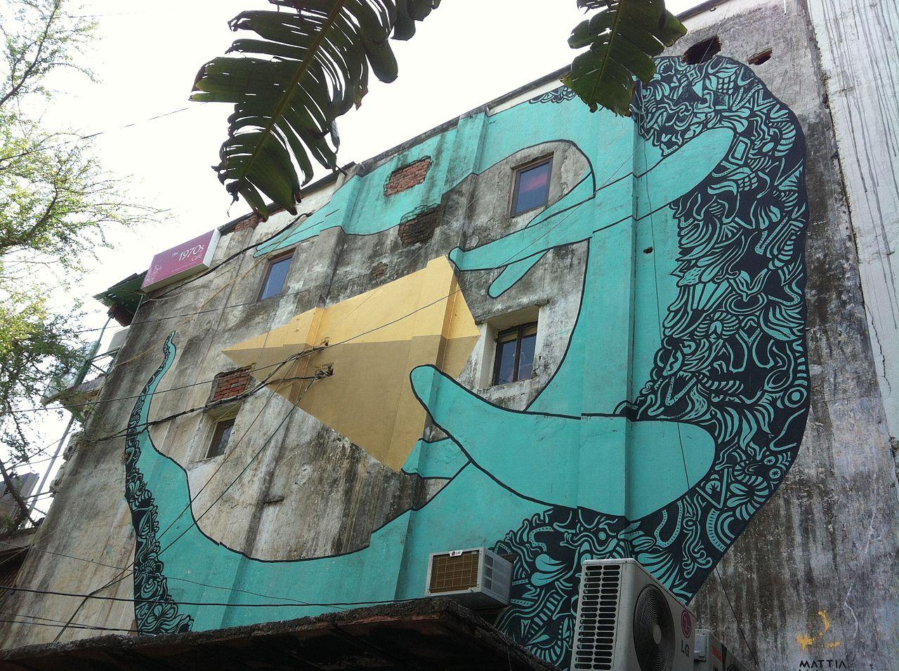 where to find delhi\u0027s best street arta mural in hauz khas, new delhi © psubhashish wikimedia commons