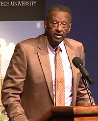 Walter E. Williams speaks at Texas Tech in 2013 (cropped).jpg