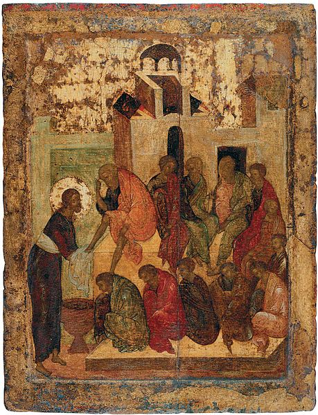 File:Washing the feets (1420s, Sergiev Posad).jpg