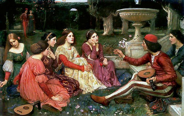 A Tale from the Decameron by John William Waterhouse, 1916 (Wikimedia Commons)