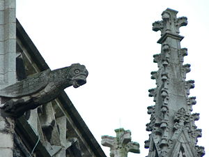 Church of Our Lady (Kortrijk) - a Gargoyle on the outside