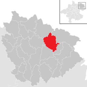 Location of the community of Weitersfelden in the district of Freistadt (clickable map)
