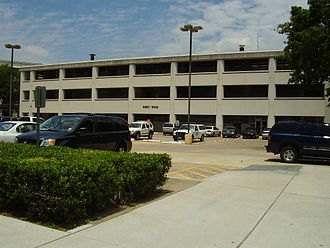 San Jacinto High School (Houston, Texas) - The West Wing in the Houston Community College Central Campus was formerly the vocational building
