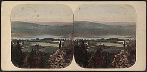 West Point, New York - View of the West Point area from Fort Putnam.