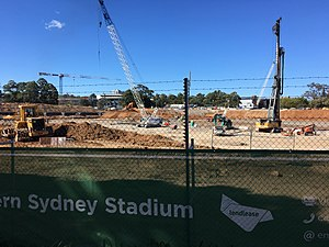Parramatta Stadium - Western Sydney Stadium Construction Site