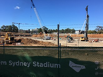Western Sydney Stadium - Image: West Sydney Stadium construction 1