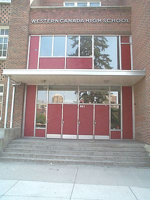 Calgary Board of Education - Western Canada High School is the oldest and largest school operated by the CBE