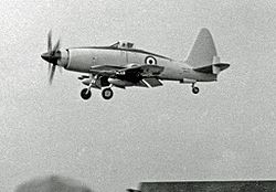 Wyvern TF.2 na Farnborough Air Show v roce 1953