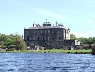 Westport House - Western elevation from the boating lake, Easter Sunday, 2011