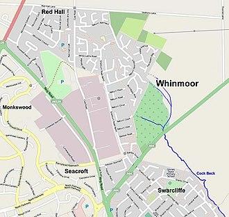 Whinmoor - Image: Whinmoorstreetmap