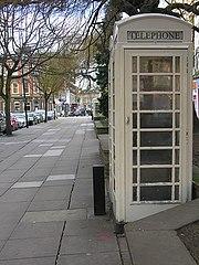 White payphone