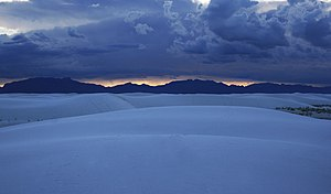 White Sands, New Mexico - Sunset at White Sands, 2009