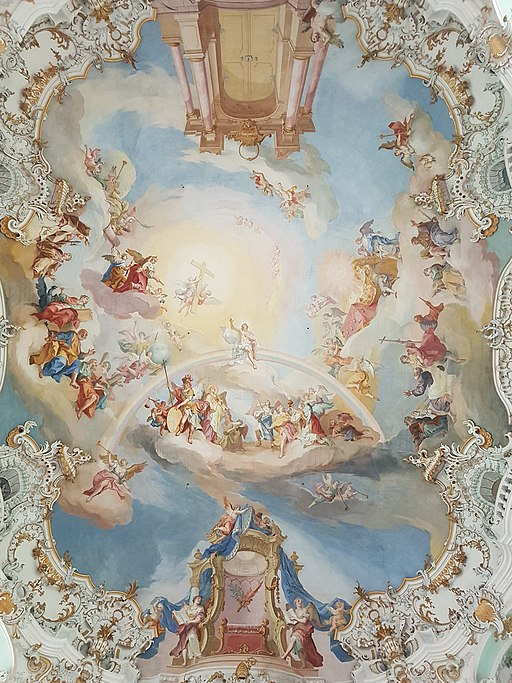 Wieskirche: Deckengemälde (Johann Baptist Zimmermann)