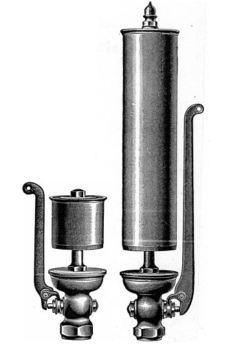 Steam whistle - High-pitched plain whistle (left) and low-pitched plain whistle (right).