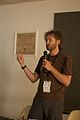 Wikimania 2009 - Adam Hyde - Objavi books (1).jpg