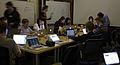 Wikimedia Foundation SOPA War Room Meeting AFTER BLACKOUT 1-17-2012-1-3.jpg