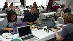 Wikipedians at Open Help Conference sprint.jpg